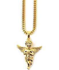 Real Gold Necklace With Name Jewelry Zumiez