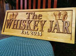 personalized wood bar sign 3d woodworker