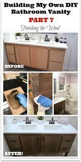 build a diy bathroom vanity part 7 finishing the oak vanity