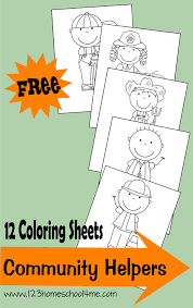 12 free community helpers coloring sheets community helpers