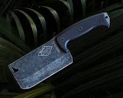 esee kitchen knives esee knives esee cl1 expat knives cleaver 5 5 black stonewashed