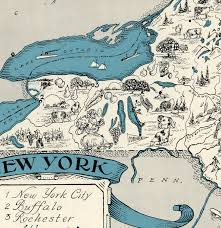 New York Maps Vintage Map New York New York Map