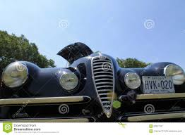 alfa romeo classic blue old alfa romeo car front editorial photography image 58647547