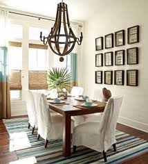Decorating Small Home by Simple Decorating Small Dining Room Round Table Artwork Mirror On
