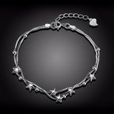 star silver bracelet images 2017 fashion 925 sterling silver bracelets for women trendy star jpg