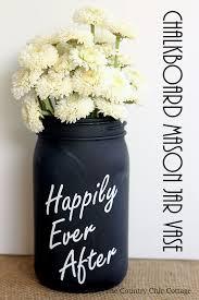 jar vases chalkboard jar vase for weddings the country chic cottage