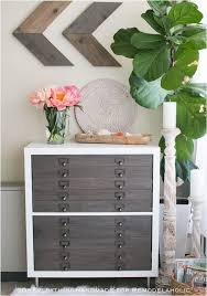 Flat File Cabinet Remodelaholic Ikea Hack Kallax Into Flat File Cabinet Drawers