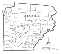 Map Of Pennsylvania Counties Clearfield County Map Image Gallery Hcpr