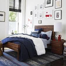 West Elm Organic Duvet Bedroom Design Ideas With West Navy Blue Elm Bedding Feat Wooden