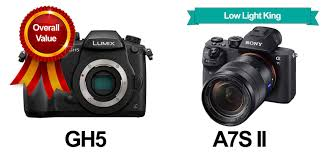 sony low light camera gh5 vs sony a7s ii what s the best video camera heavy com