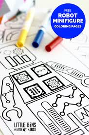 waving robot free coloring page asc pinterest robot