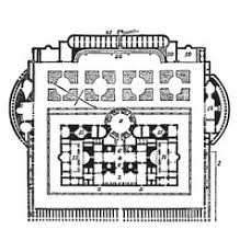 baths of caracalla floor plan of caracalla the ground plan vintage vector image