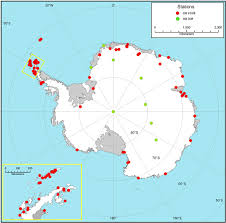 map of antarctic stations how committed are we to monitoring human impacts in antarctica