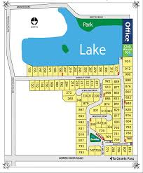 Map Of Grants Pass Oregon by Map Of Homesites Westlake Village Mobile Home Park Grants Pass