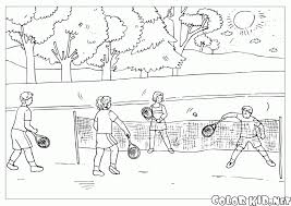 coloring page the game of tennis