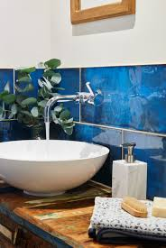 Blue Tiles Bathroom Ideas Colors Montblanc Blue Ceramic Tile Factors Originals And Walls