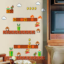 amazon com blik super mario bros re stick wall decals baby