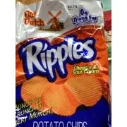 ripples chips ripples cheddar and sour flavored potato chips