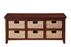 Storage Console Table by Broyhill 6 Basket Storage Console In Cherry Home Furniture