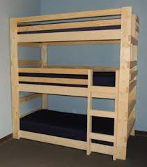 build your own triple bunk beds plans diy free download floating