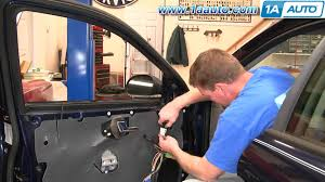 how to install replace side rear view mirror ford taurus mercury