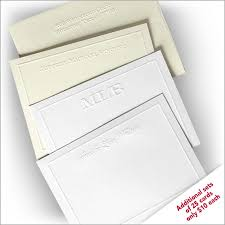 embossed note cards embossed stationery embossed monogrammed products