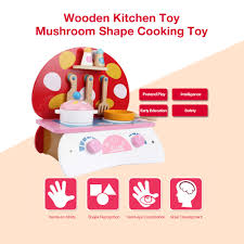 wooden kitchen toy food cooking toys baby pretend play a small