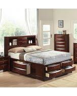 Bookcase Storage Bed Acme 21600q Ireland Espresso Bookcase Queen Storage Bed With Drawers