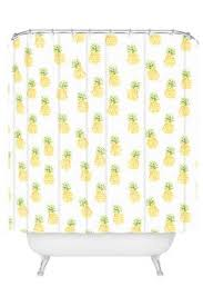 yellow shower curtain pineapple shower curtain yellow bathroom