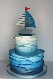 nautical cake and everything sweet nautical again baby shower