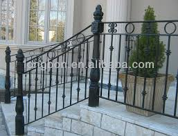 Premade Banister Top Selling Classic Wrought Iron Railings Outdoor Buy Curved