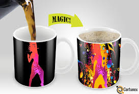 Funny Coffee Mug by Cortunex Magic Mugs Amazing New Heat Sensitive Color Changing