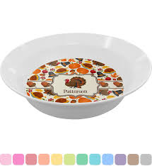traditional thanksgiving dinner set 4 pc personalized