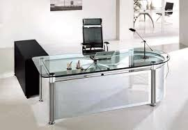 Attractive Glass Office Desk Id Home Inspiration Ideas Intended For