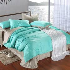 Teal And Grey Bedding Sets Luxury Bedding Set King Size Blue Green Turquoise Duvet Cover Grey