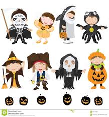 cute halloween characters and costume stock vector image 56731652