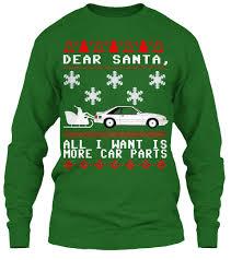 christmas sweaters fox christmas sweater dear santa all i want is more car