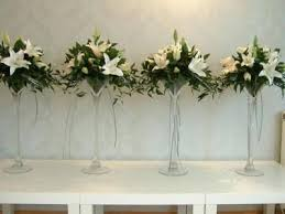 tall white flower wedding centerpieces tall white floral
