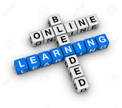 online blended learning crossword puzzle stock photo picture and