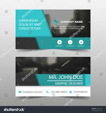 blue abstract corporate business card name stock vector 664166746