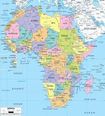 africa map map best 25 countries map ideas on africa map