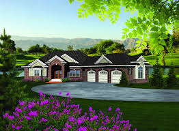 walk in basement plan 89856ah ranch home plan with walkout basement walkout