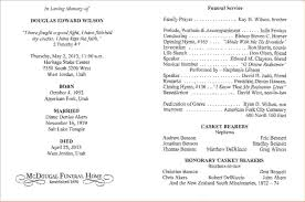 Templates For Funeral Program 8 Examples Of Funeral Programsagenda Template Sample Agenda