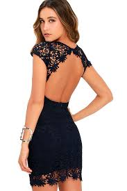 blue lace dress backless dress navy blue dress lace dress 58 00