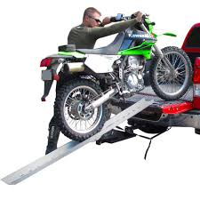 black motocross bike folding single runner dirt bike loading ramp 7 u0027 long discount ramps