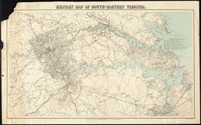 Map Of Eastern Virginia by Military Map Of South Eastern Virginia Digital Commonwealth