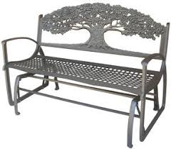 tks outdoors cast iron glider benches