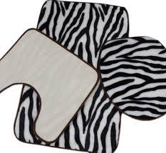 Elegant Bath Rugs Zebra Print Bath Mat Set Bathrooms Cabinets