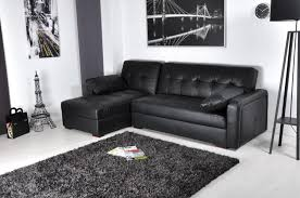 canapé lit cuir noir photos canapé d angle convertible noir