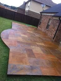 deas floor decor acid stained concrete decorative scored